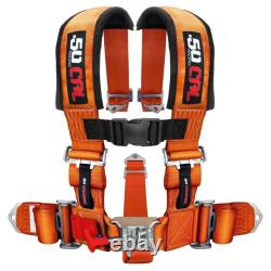 Orange 2 Pad Race H Harness Seat Belt 5 Point Sand Rail 2x2 Longtravel Buggy