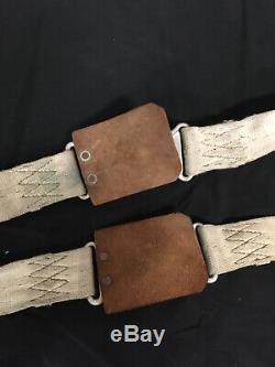 Original Aircraft Seat Belts Vintage Bomber Warbird Scta Harness Hot Rod Rat Nr