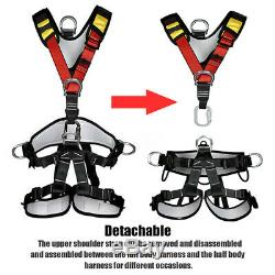 Outdoor Full/half Body Safety Rock Climbing Tree Rappelling Harness Seat Belt