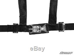 PAIR of 3 Point Seat Belts Harness 2 Polaris RZRS 800 XP900 RZR4 570 BLACK