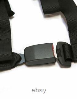 PRP 4 Point 2 Harness Seat Belt Pair Automotive Style Latch Kit Red Maverick X3
