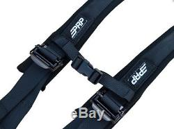 PRP 4 Point 2 Harness Seat Belts Automotive Style Latch Black Polaris RZR All