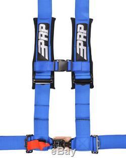 PRP 4 Point Harness 3 Pads Seat Belt Blue UTV RZR Turbo X3 RS1 SB4.3B Set of 2