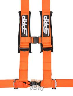 PRP 4 Point Harness 3 Pads Seat Belt SINGLE ORANGE RZR XP Turbo 1000 RS1