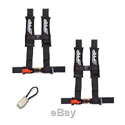 PRP 4 Point Harness 3 Seat Belt PAIR Black Bypass YAMAHA YXZ1000R YXZ 1000R 17+