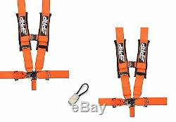 PRP 5 Point Harness 3 Seat Belt PAIR ORANGE Bypass Yamaha YXZ1000R Viking