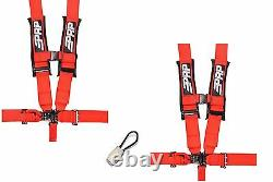 PRP 5 Point Harness 3 Seat Belt PAIR RED Bypass Yamaha YXZ1000R YXZ 1000R
