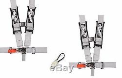 PRP 5 Point Harness 3 Seat Belt PAIR SILVER Bypass Yamaha YXZ1000R YXZ 1000R