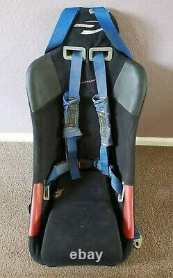 Pace Motorsport Car Racing Bucket Seat Chair with 3 Point Harness Seat Belt Mini