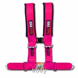 Pink Race H Harness Seat Belt 4 Point Pads Sand Rail 2x2 style Longtravel Car