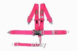 Pink Safety Harness Racing 5 Point Sfi 16.1 Latch & Link 3 Racing Seat Belt