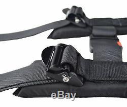 Polaris Rzr 2 Seat Belt Harness Race Harness 4 Point Latch Type Black