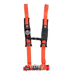Pro Armor 4 Point 2 Seat Belt Harness Orange Can-Am Commander Maverick Defender
