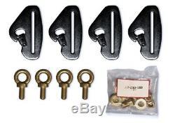 Pro Armor 4 Point 3 Padded Seat Belt Harness Pair Mount Kit Blue Maverick X3