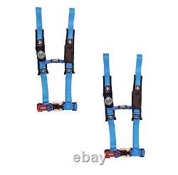 Pro Armor 4 Point Harness 2 Pads Seat Belt PAIR BLUE Polaris YXZ1000R Rhino