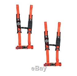 Pro Armor 4 Point Harness 2 Pads Seat Belt PAIR ORANGE YAMAHA YXZ1000 YXZ 1000R
