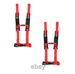 Pro Armor 4 Point Harness 2 Pads Seat Belt PAIR RED Kawasaki Teryx All
