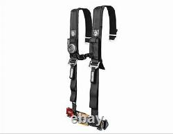 Pro Armor 4 Point Harness 2 Pads Seat Belt Pair With Mount Kit Black YXZ 1000R