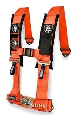 Pro Armor 4 Point Harness 2 Seat Belt Pair Mount Kit Bypass Orange YXZ1000 2017+