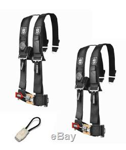 Pro Armor 4 Point Harness 3 Pads Seat Belt Pair Bypass Black YXZ 1000R 2017+