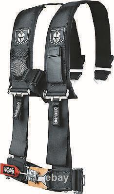 Pro Armor 4point Black ATV/UTV Harness Belt Seatbelt with Phone Pocket A114220