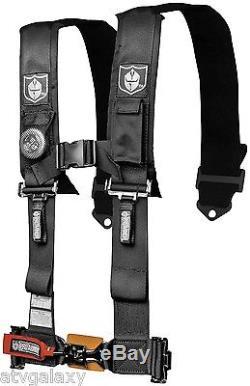 Pro Armor 5 Point 3 Padded Seat Belt Harness Black SFI Maverick YXZ RZR All