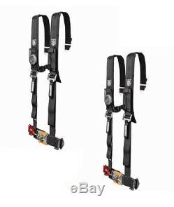 Pro Armor 5 Point Harness 2 Pads Seat Belt PAIR BLACK RZR XP 4 S 800 900