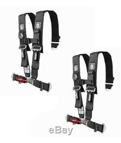 Pro Armor 5 Point Harness 3 Pads Seat Belt PAIR BLACK Arctic Cat Wildcat 1000