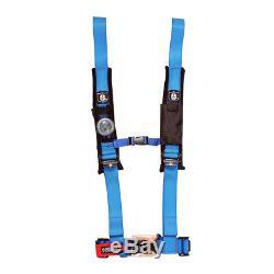 Pro Armor BLUE Seat Belt Harness 4 Point 2 Padded Polaris RZR900XP RZR800