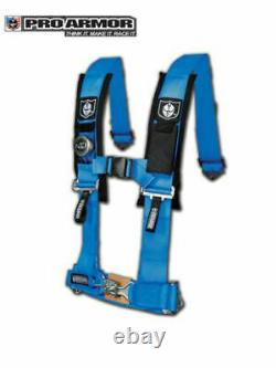 Pro Armor BLUE Seat Belt Safety Harness 4 Point for Honda John Deere Kubota ATV