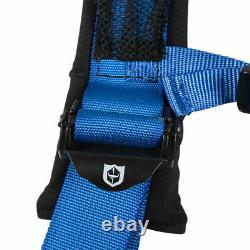 Pro Armor BLUE Seat Belt Safety Harness 4 Point for Honda John Deere Kubota PAIR