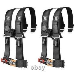 Pro Armor Pair of Black 4 Point 2 Harness Seat Belt RZR XP Turbo CanAm X3 UTV