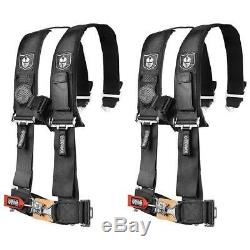 Pro Armor Pair of Black 4 Point 3 Harness Seat Belt RZR XP Turbo CanAm X3 UTV
