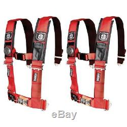 Pro Armor Pair of Red 4 Point 2 Harness Seat Belt RZR XP Turbo CanAm X3 UTV