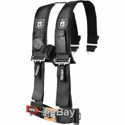 Pro Armor Seat Belt Harness 4 Point 2 Padded Black Polaris RZR XP S 4 1000 All
