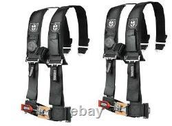 Pro Armor Seat Belt Harness 4 Point 2 Padded Black Polaris RZR XP S 4 1000 PAIR