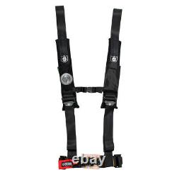 Pro Armor Seat Belt Harness 4 Point 2 Padded Black Yamaha Rhino 450 660 700 All