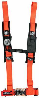 Pro Armor Seat Belt Harness 4 Point 2 Padded Polaris RZR XP / S /4 /1000 ORANGE