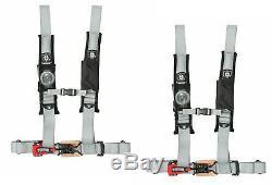 Pro Armor Seat Belt Harness 4 Point 2 Padded Polaris RZR XP S /4 /1000 SIL PAIR