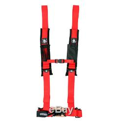 Pro Armor Seat Belt Harness 4 Point 2 Padded Red Polaris RZR1000XP RZR 1000 XP