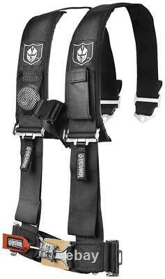Pro Armor Seat Belt Harness 4 Point 3 Padded Polaris RZR XP / S /4 /1000 BLACK