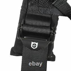 Pro Armor Seat Belt Safety Harness 4PT 3 Padded RZR Rhino Can Am ORANGE (PAIR)