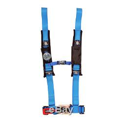 Pro Armor Seat Belt Safety Harness 4 Point 2 Padded RZR Rhino Can Am Blue