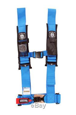 Pro Armor Seat Belt Safety Harness 4 Point 3 Padded RZR Rhino Can Am Blue