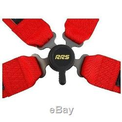 RRS Pro 4 FIA 4 Point Safety Harness Belts for sport seats WRC