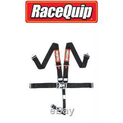 RaceQuip 711001 Black Race Car Seat Belts 5 pt SFI Safety Harness IMCA NHRA USRA