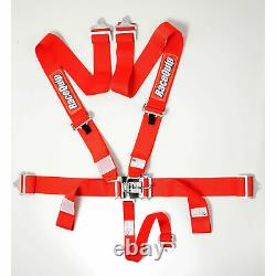 Racequip 711011 Red Race Car Seat Belts 5 Pt SFI Safety Harness NASCAR USAC