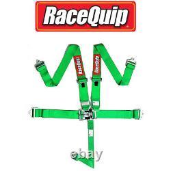 Racequip 711071 SFI 5 Point Latch & Link Style Racing Seat Belt Harness Green