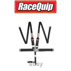 Racequip 717007 5 Point Latch Link Style HNR Racing Seat Belt Harness Black SFI