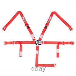 Racequip Seat Belt Harness 709019 Jr. Dragster / 1/4 Midget 2 Red 5pt Latch